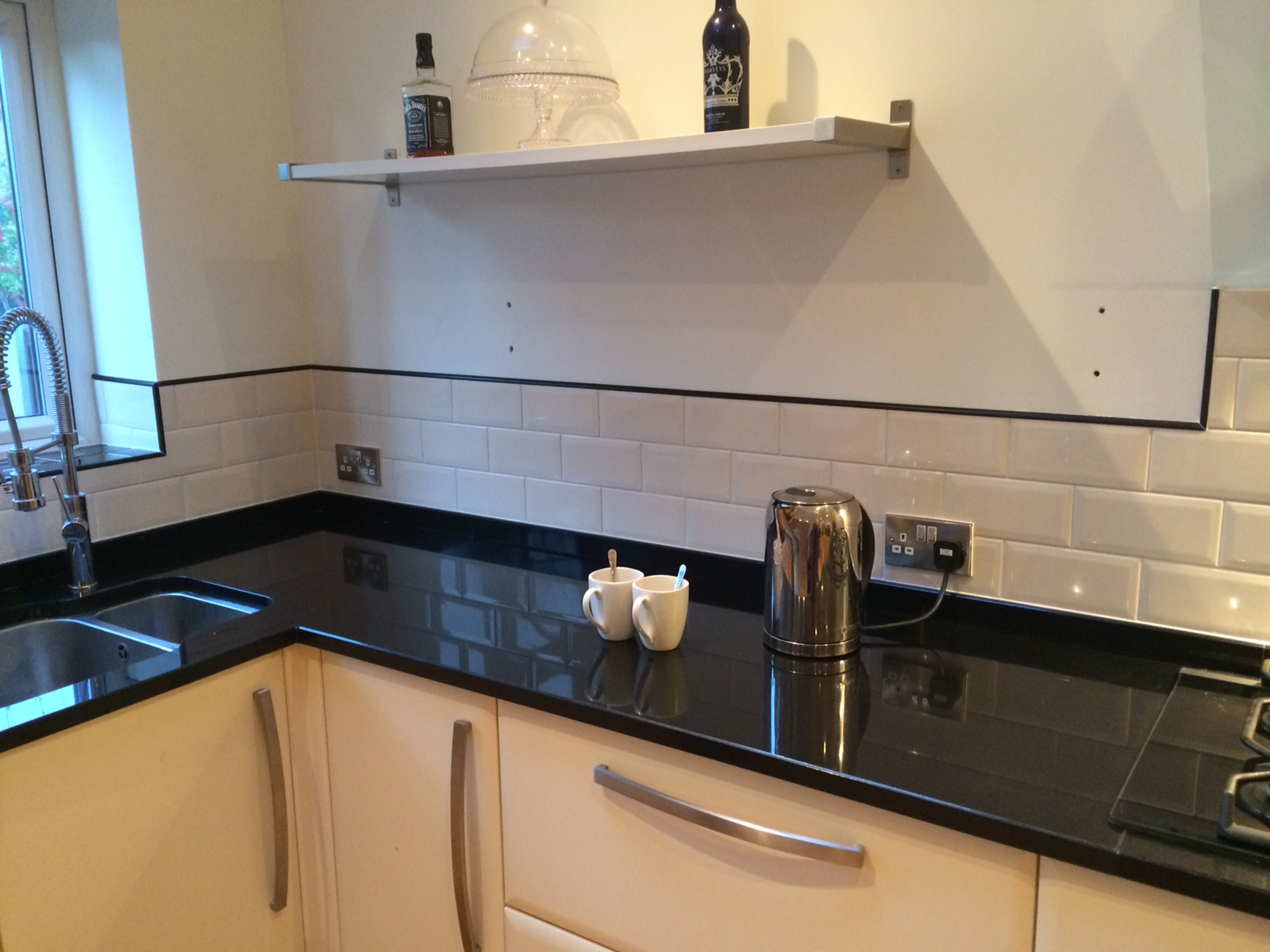 white metro tiles kitchen  creepingthymeinfo - metro white ceramic tiles case study andy carroll tiling