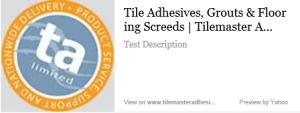 tile master adhesives