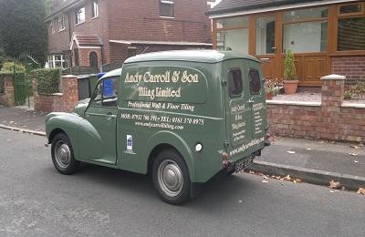 New Manchester Tiler Van - Rear View